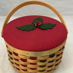2003 Longaberger Christmas Caroling Basket